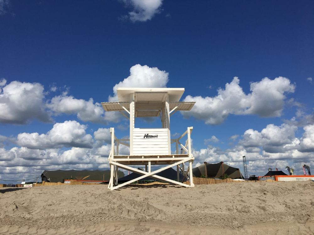 Our baywatch style beach house at zeezout festival.